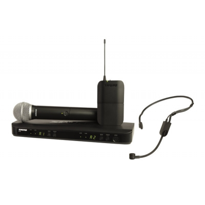 Shure BLX1288-PGA31 Combo Handheld+ Headset Dual Wireless System