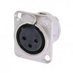 Neutrik NC3FD-L-1 female panel mount XLR connector