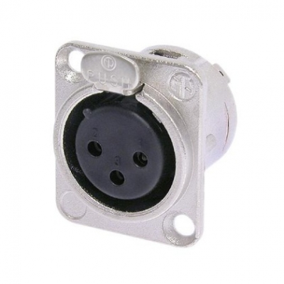 Neutrik NC3FD-L-1 female panel mount XLR connector